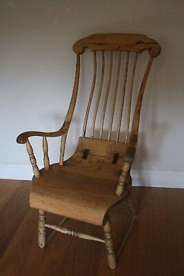 Antique High Bow Backed Chair