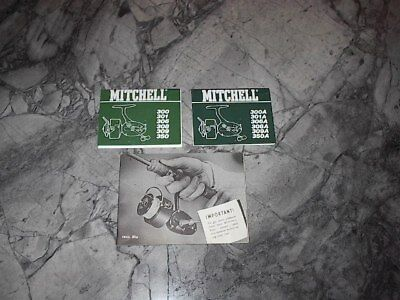 3 different Mitchell items. 2 box phamplets & 30 page booklet