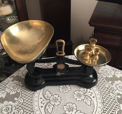 Vintage Librasco Libra Scale Co Kitchen Scales With Brass Bell Weights New Price