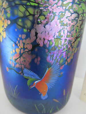 Okra Glass Limited Edition Kingfishers T College R Golding