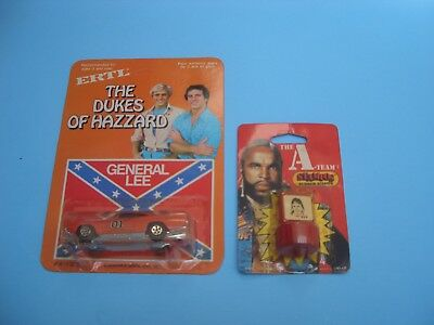 Dukes Of Hazzard General Lee 1/64 The Scale Car By Ertl & A-Team Rubber Stamp