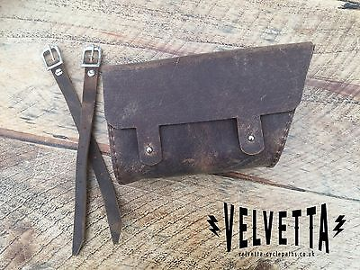 Velvetta Vintage Leather Crossbar Bag (Eroica Britannia) Summer sale