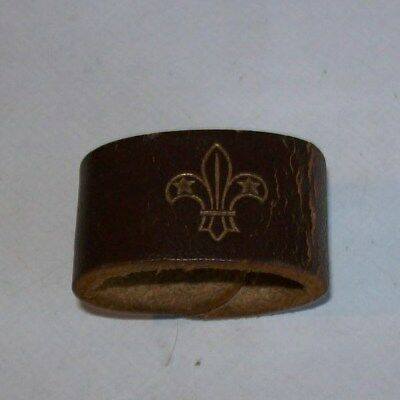 Vintage Leather Scout Woggle  Scouting