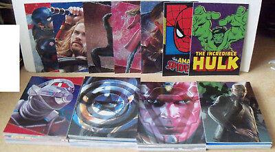 102 Dif Marvel Trading cards by Panini 2017 New superhero inc embossed and Foil