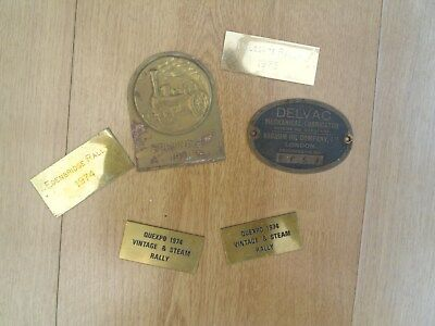 6 brass plaques