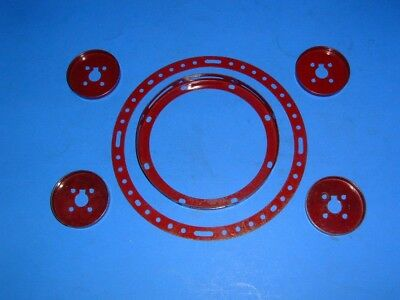 Meccano pre war Dark red circular parts