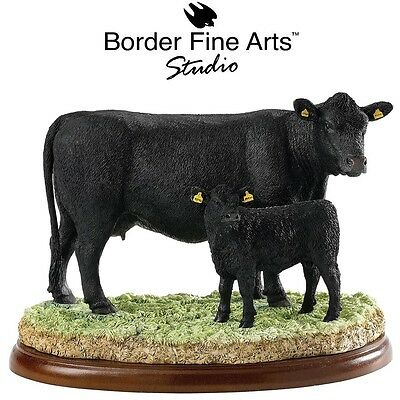 New Border Fine Arts Aberdeen Angus Cow and Calf  Farming Today Cattle Model