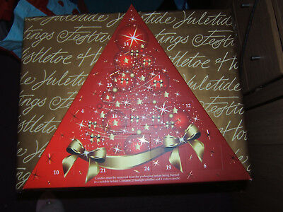 BNIB Christmas Candle advent calendar with tea lights and Votive Candles -