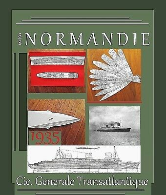ss NORMANDIE /French Line /1935: Complete Retractable General Arrangement Plans