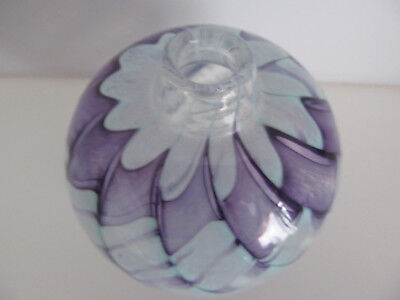 Siddy Langley Signed Glass Vase