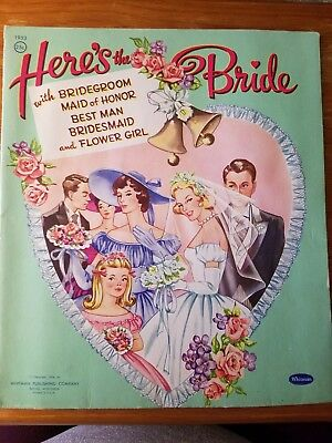 1956 Vintage Paper Dolls - Here's The Bride by Whitman