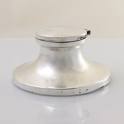 Antique Vintage Solid Sterling Silver Capstan Inkwell 1920
