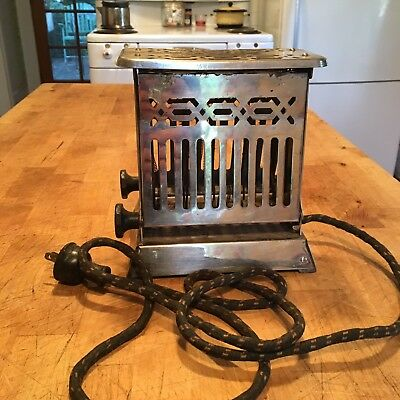 Vintage1924 Edison Electric Appliance Co. INC. HOTPOINT Toaster Works!