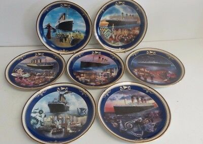 Titanic: Queen of the Ocean - 7 x Bradford Exchange Plates by James Griffin