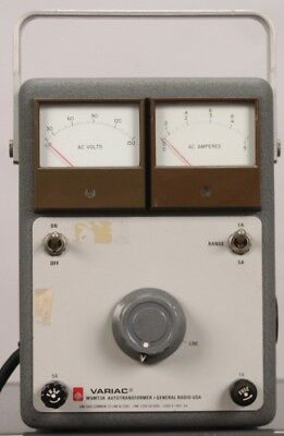 General Radio VARIAC W5MT3A Autotransformer - Line 120V 50-60Hz Load 0-140V 5A
