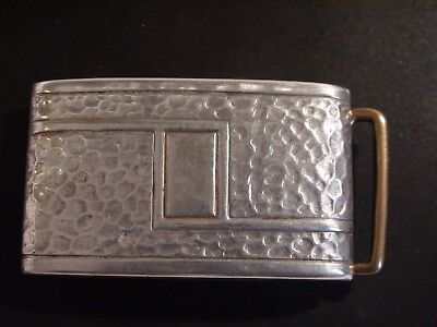 Vintage Japanese Sterling Silver Belt Buckle