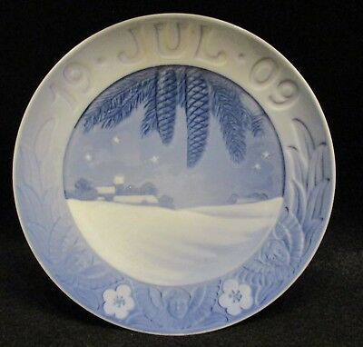 Royal Copenhagen 1909 Christmas Plate Excellent Condition 135 Blue China