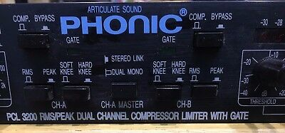 Phonic PCL 320 - Dual Channel Compressor with Limiter and Gate