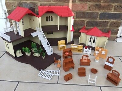 Sylvanian Families Cottage Home House and furniture bundle