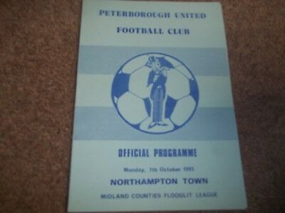 Peterborough United V Northampton Town Midland Counties Floodlit League Oct 1985