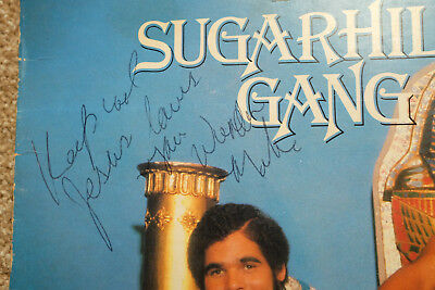 ♫ Signed Sugarhill Gang 8 Th Wonder Hip Hop Old School Rap Lp Listen