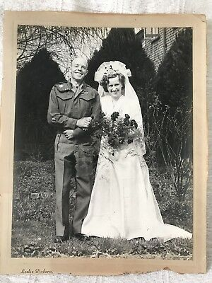 Vintage Wedding Portrait Photograph - 1930s/40s