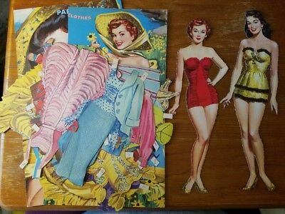 1958 Vintage Paper Dolls - Gay & Gayle by Merrill