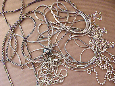 Vintage 925 Sterling Silver Chain Scrap Or Not Lot