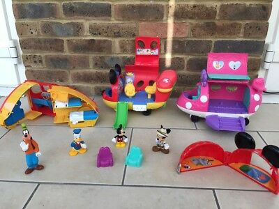 Minnie Mouse,Mickey Mouse Plane And Camper Van Bundle
