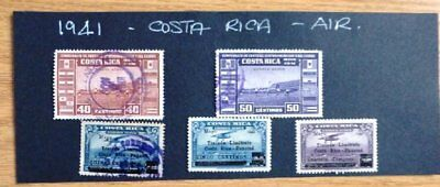 1941 Costa Rica used/hinged stamps - Air- No F-150