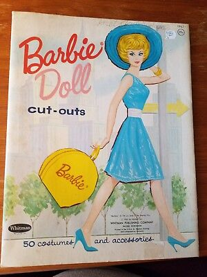 1962 Vintage paper dolls - Barbie Doll by Whitman