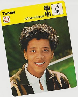 1978 Althea Gibson U.k. Sportscaster Card #13 064 15-06 First Printing Nrmt-Mt