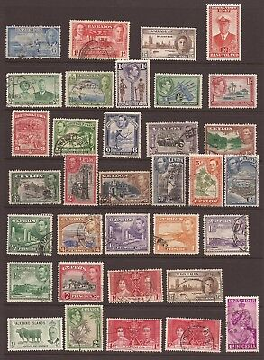 COMMONWEALTH STAMP COLLECTION - KGVI - 48 Different Stamps - 2 Scans - (JB808)