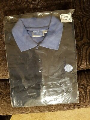 Girl guides adult leader official uniform t-shirt size 14 polo top