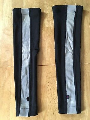 Used Rapha Arm Warmers, reflective, black, RRP £25, free postage, no reserve.