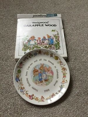 Wedgewood Oakapple Wood Birthday Plate 1988