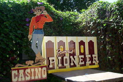 Pioneer Vegas Vic Las Vegas Casino sign must see HUGE!!!!!!!