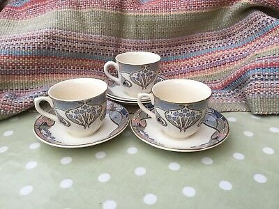 Liberty Of London Tea Cups And Saucers X 3