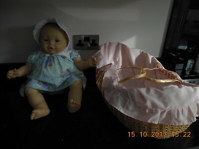 Large Baby Doll in Moses Basket - Collection Only from DE22