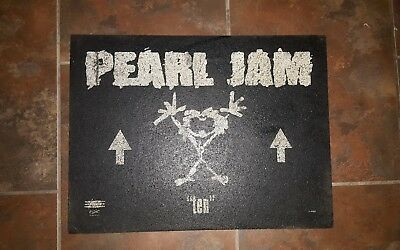 "pearl jam extremely rare promotional ""ten"" doormat"