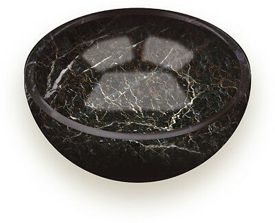 """5"""" BLACK MARBLE BOWL for Kitchen Trinkets Coins Keys Soap Dish Gift Boxed NEW"""