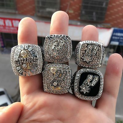 1 set 5 San Antonio Spurs 1999 2003 2005 2007 2014 championship ring Men Gift