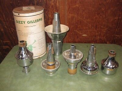 Lot of Vintage Ullven Dizzy Gillespie Cup Mutes * Made in Sweden * RARE