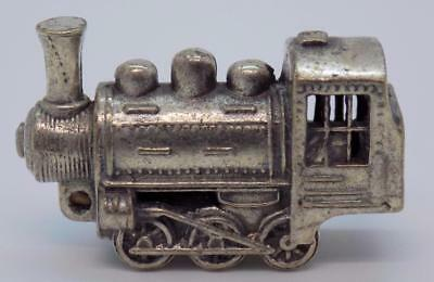 Vintage Solid Silver Italian Made Train Locomotive Miniature, Figurine, Stamped