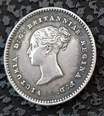 Queen Victoria Two Pence 1853 Unc