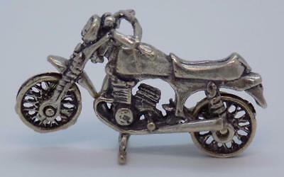 Vintage Solid Silver Italian Made Handmade Motorcycle Miniature, Stamped