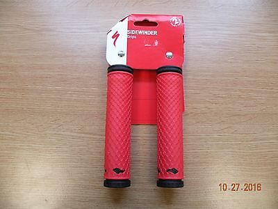 Bicycle handlebar grips. Specialized Sidewinder Red.