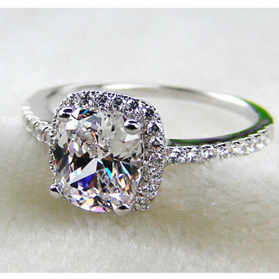 4, 5,6,7, 8 nscd 3ct VVS1 diamond ring engagement proposal bridal PT950 MOTHER