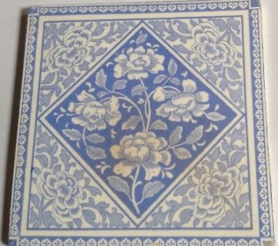 Exceptionally Lovely Soft Blue And White Genuine Victorian Tile