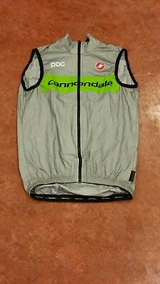 Original Castelli Cannondale Pro Cycling Pocket Liner Rain vest (XS)